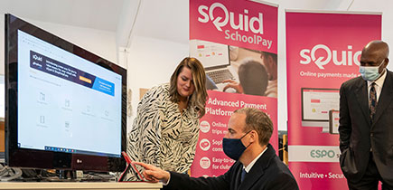 Rt Hon Dominic Raab MP visits Nucleus' Edtech venture sQuid